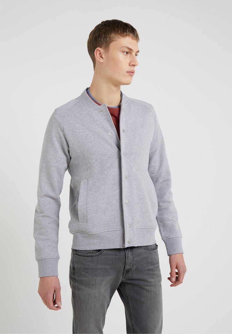 J.LINDEBERG - JASPER  STRUCTURE - Zip-up hoodie - grey melange