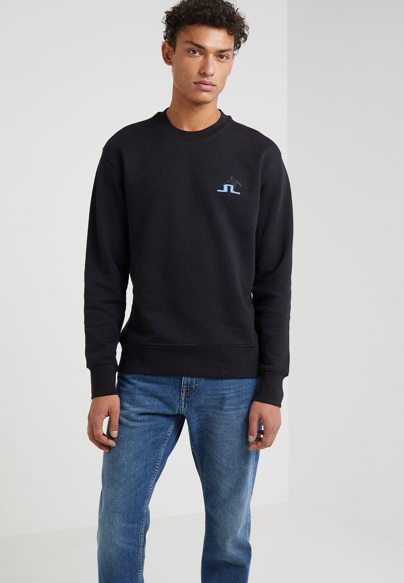J.LINDEBERG - HURL C-NECK RING LOOP  - Sweatshirt - black