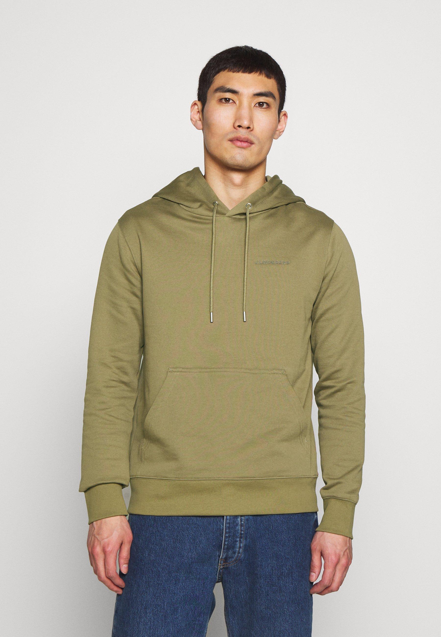 J.LINDEBERG THROW - Bluza z kapturem - covert green