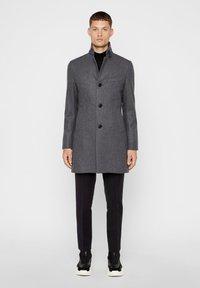 J.LINDEBERG - HOLGER COMPACT MELTON - Classic coat - grey melange - 1