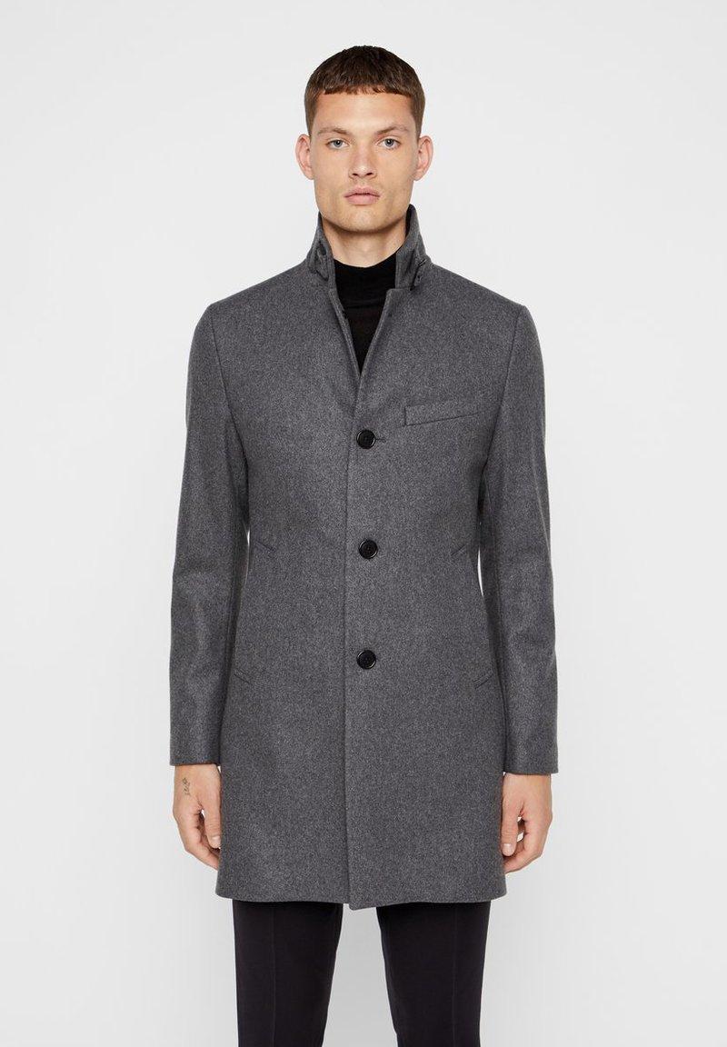 J.LINDEBERG - HOLGER COMPACT MELTON - Classic coat - grey melange