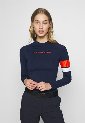 SHAY LIGHT COMPRESSION - Long sleeved top - navy