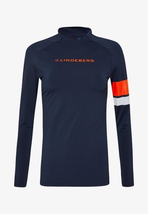 SHAY LIGHT COMPRESSION - Sports shirt - navy