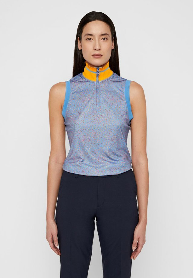 AUDREY-TX JERSEY - Top - lake blue dot