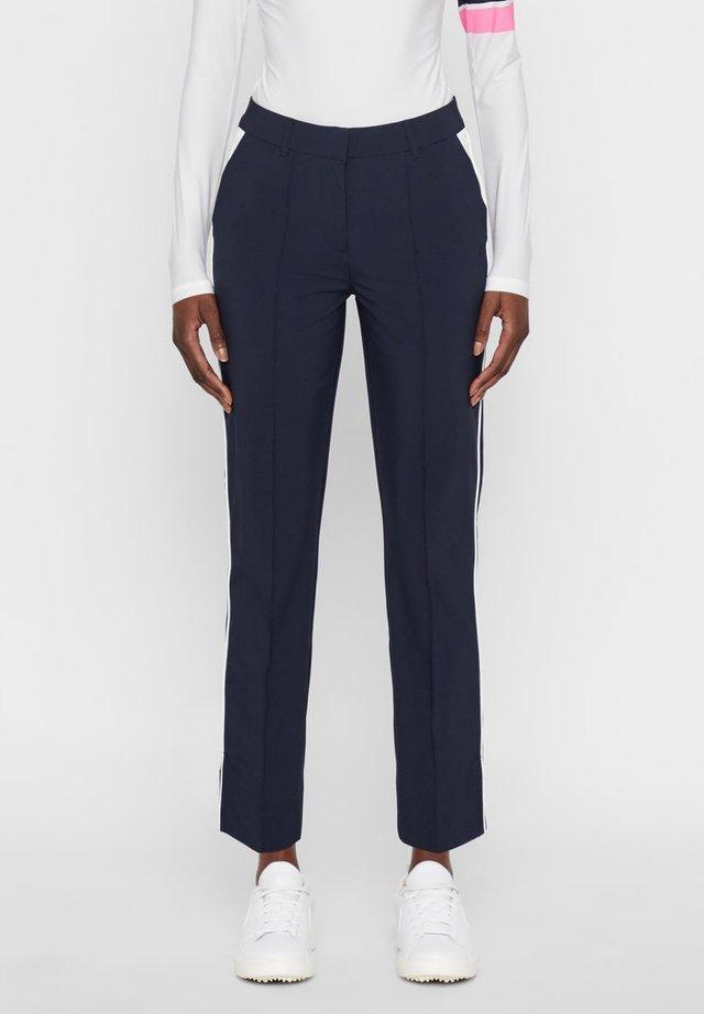 GRETHA - Spodnie materiałowe - navy