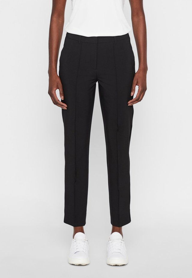 GRETHA - Spodnie materiałowe - black