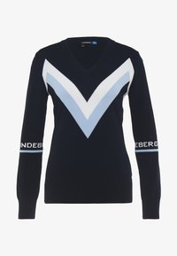 J.LINDEBERG - Stickad tröja - navy - 3