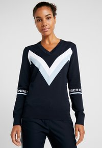 J.LINDEBERG - Stickad tröja - navy - 0