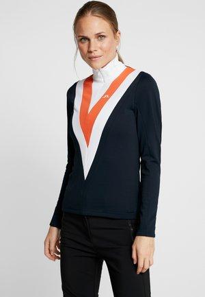 Fleece jumper - dark blue/orange