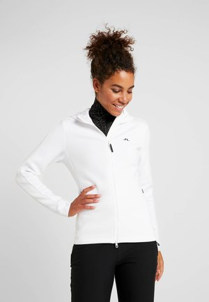 LOA HOOD TECH - veste en sweat zippée - white