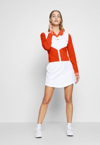 J.LINDEBERG - MELODY - Zip-up hoodie - tomato red/white - 1