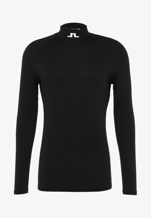 AELLO SOFT COMPRESSION - Langærmede T-shirts - black