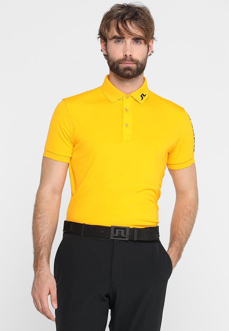 J.LINDEBERG - M TOUR TECH SLIM PRINT - Treningsskjorter - warm orange
