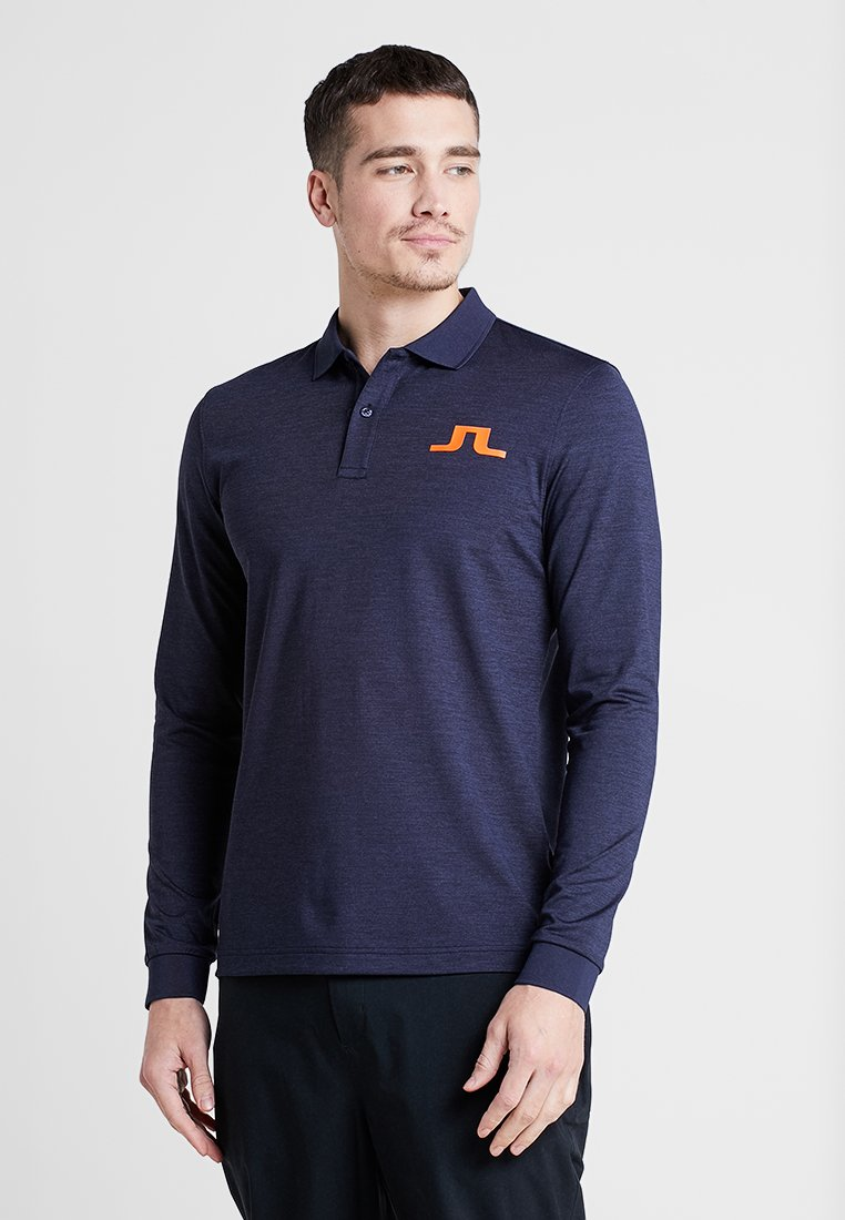J.LINDEBERG - BIG BRIDGE BRUSH - Polo shirt - navy melange