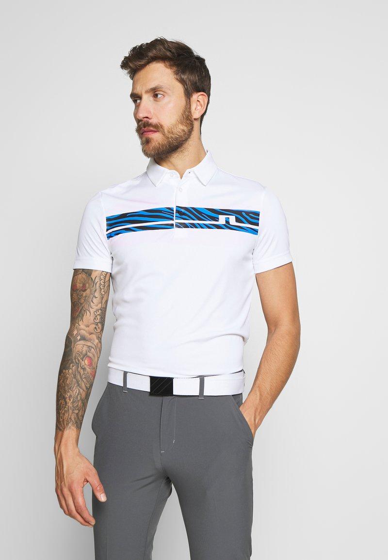 J.LINDEBERG - CLARK PRINT SLIM FIT - Funkční triko - white