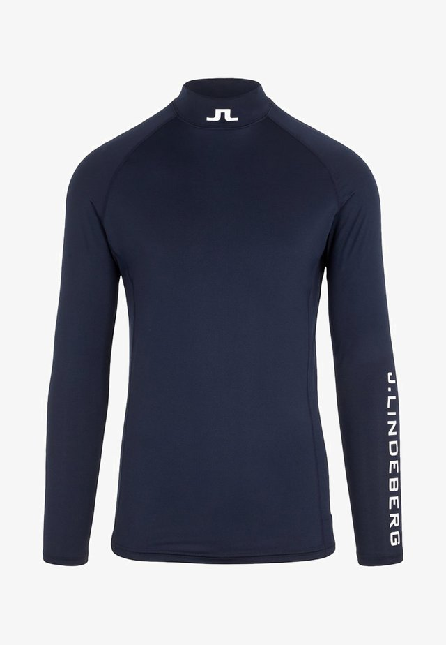 AELLO COMPRESSION - Langærmede T-shirts - navy