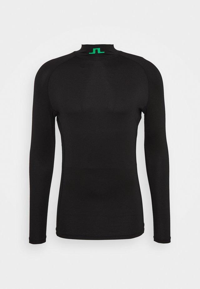 AELLO SOFT COMPRESSION - Sports shirt - black