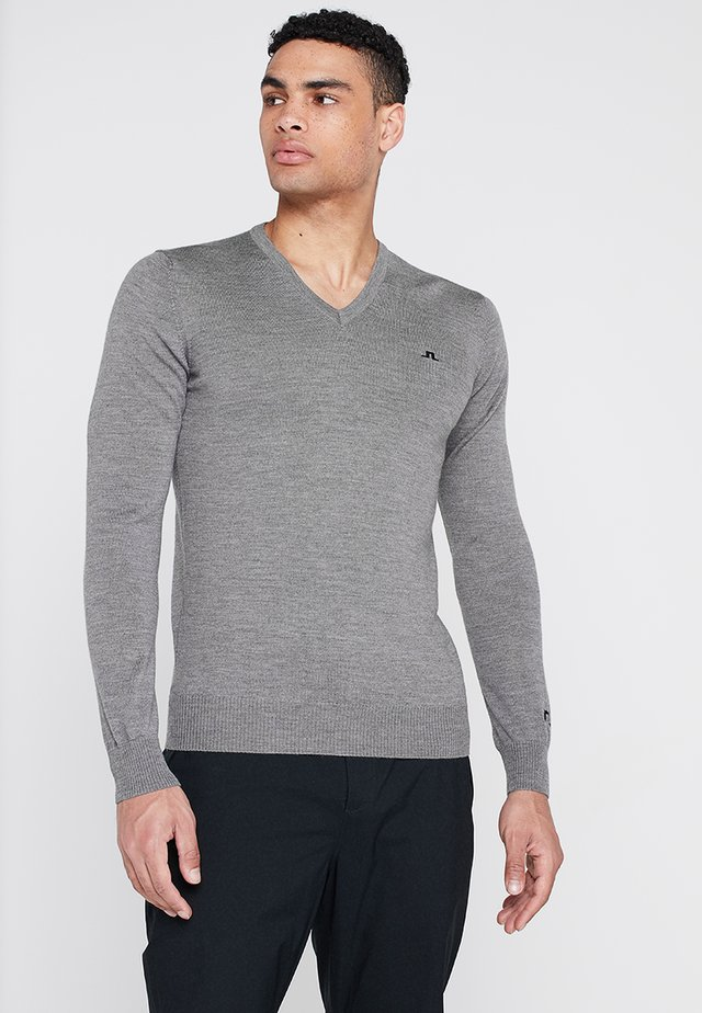 LYMANN TOUR - Jumper - grey melange