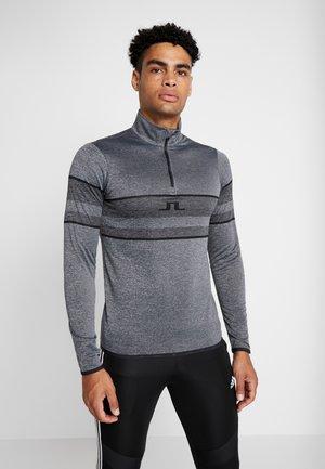 MASON - Long sleeved top - dark grey melange