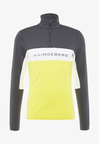 J.LINDEBERG - KIMBALL STRIPED JACKET - Fleece trui - asphalt black - 4