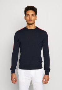 J.LINDEBERG - KEVIN CREW NECK-PIMA COTTON - Sweatshirts - navy - 0