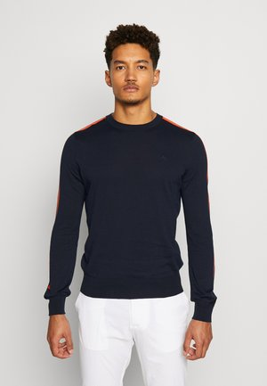 KEVIN CREW NECK-PIMA COTTON - Sweater - navy