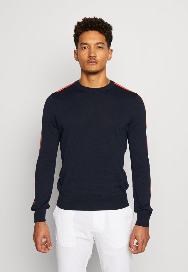 KEVIN CREW NECK-PIMA COTTON - Sweatshirt - navy
