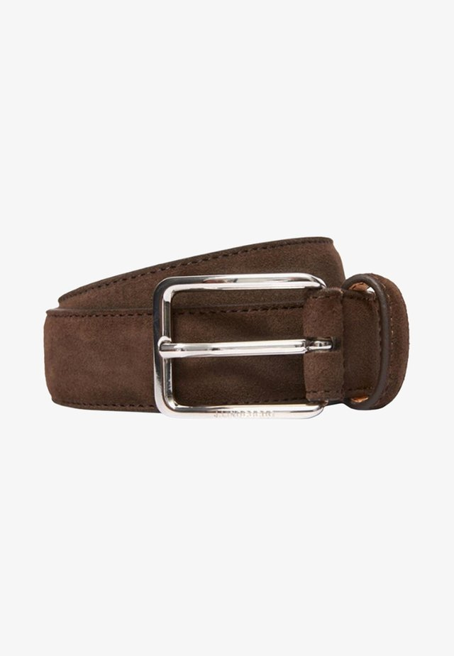 BOBBY SUEDE BELT - Gürtel - dark brown