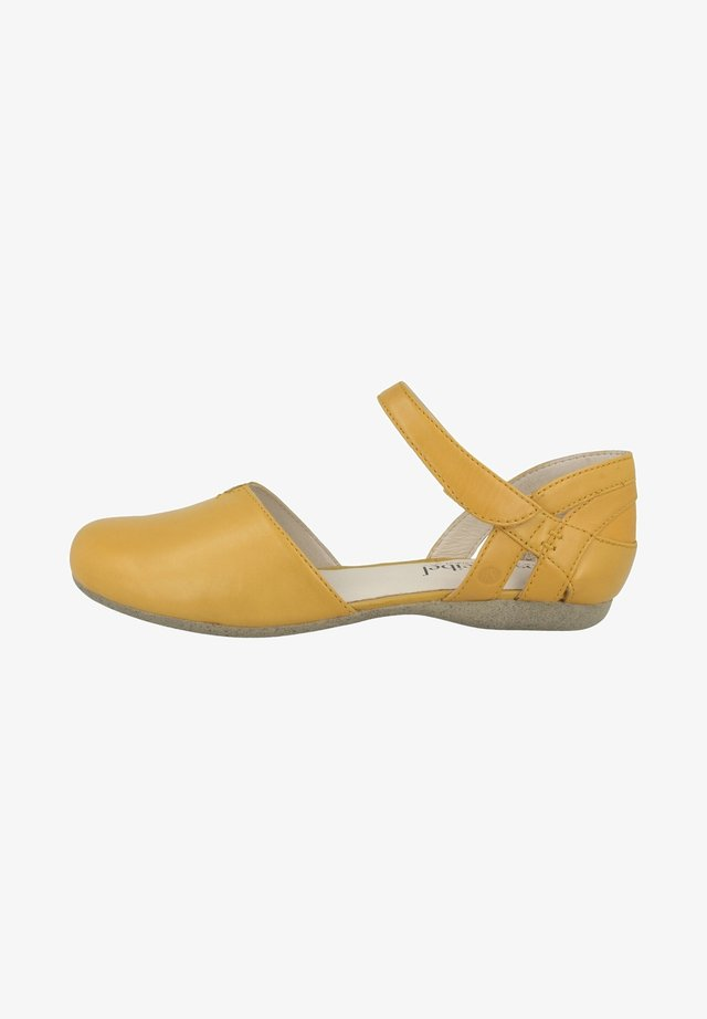 Ankle strap ballet pumps - yellow