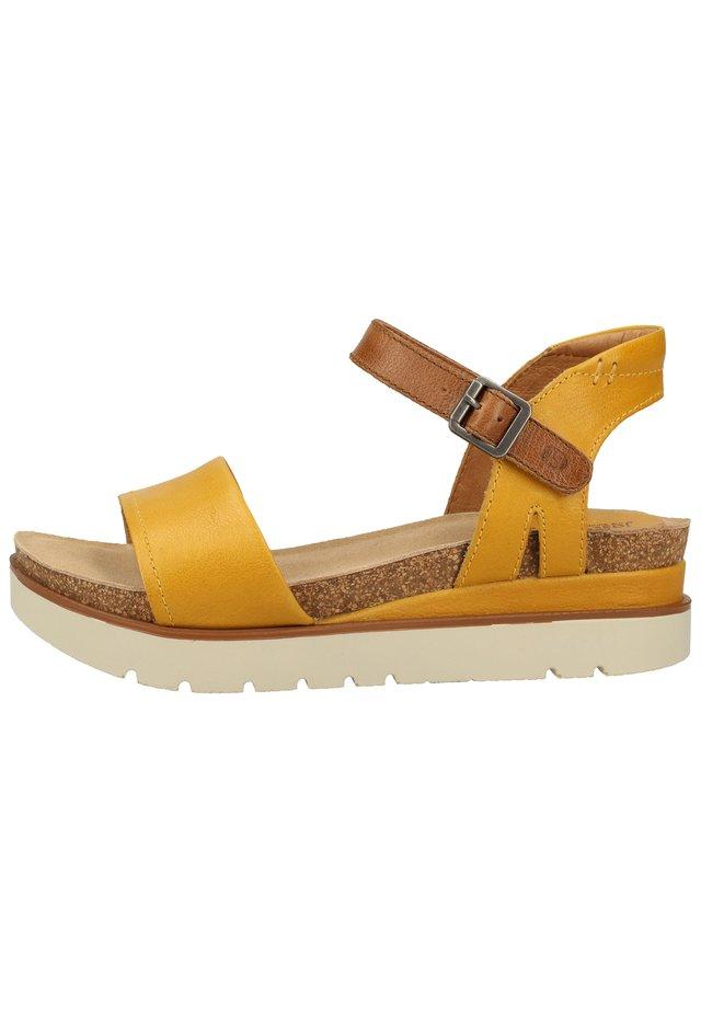 JOSEF SEIBEL SANDALEN - Platform sandals - gelb-kombi 801