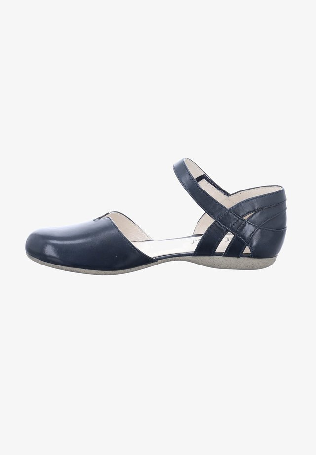 FIONA 67 - Ankle strap ballet pumps - blue