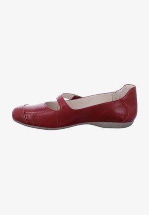 FIONA - Ankle strap ballet pumps - rubin