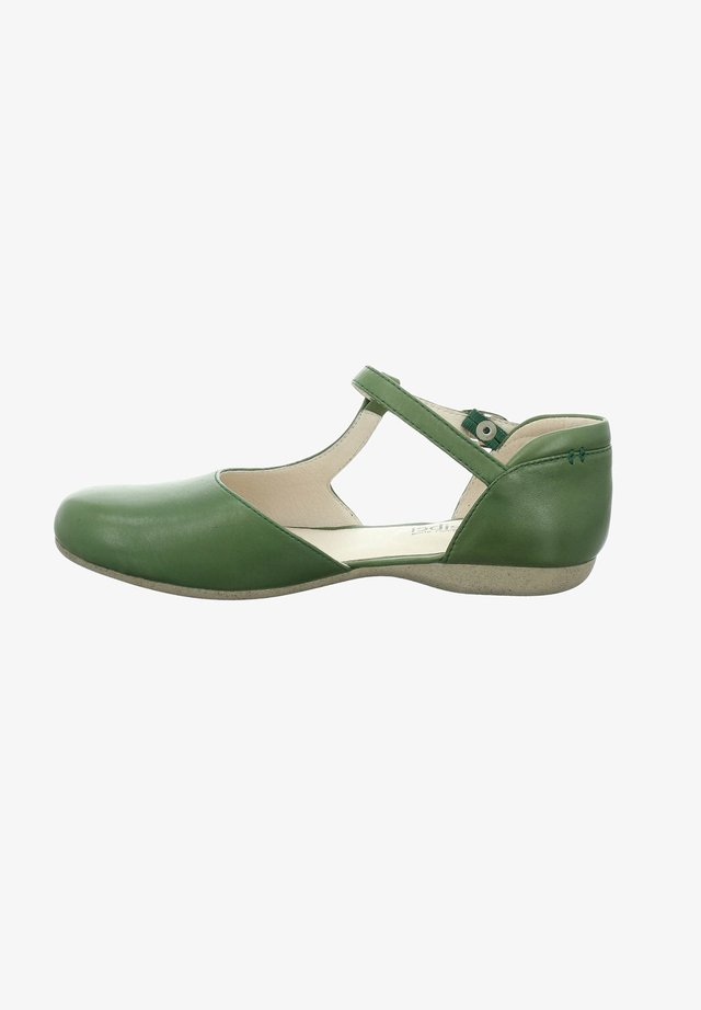 FIONA - Ankle strap ballet pumps - green