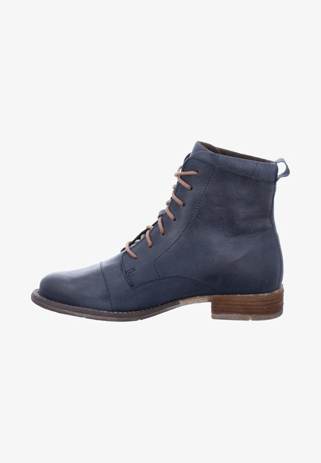SIENNA - Lace-up ankle boots - blue