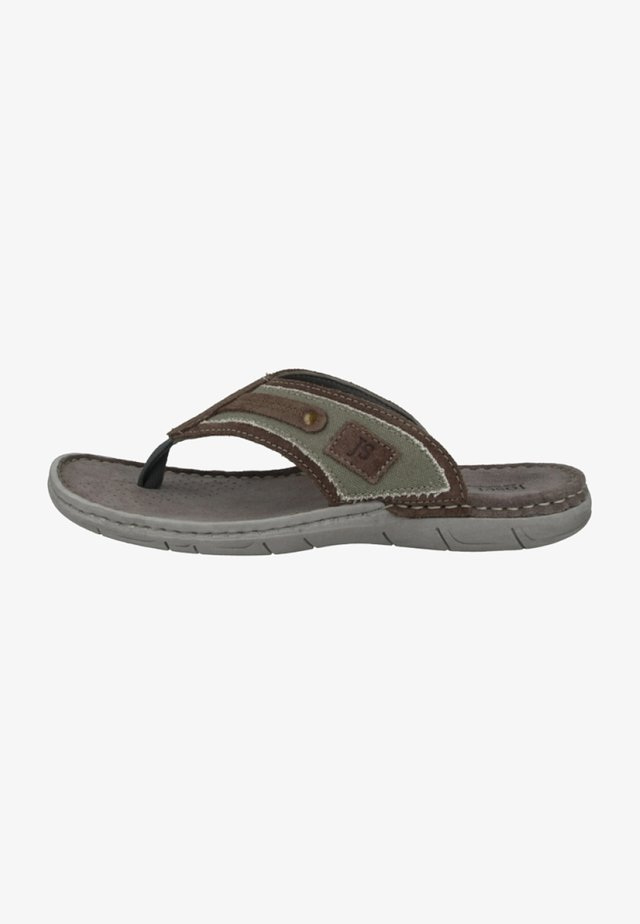 PAUL - T-bar sandals - green