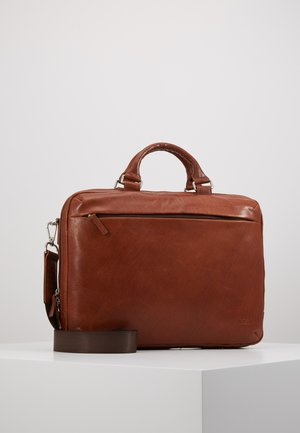 MALMÖ BUSINESS BAG - Aktentasche - cognac