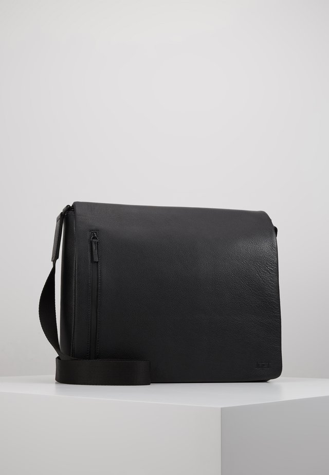 HYBRID MESSENGER BAG PEBBLE - Portfölj / Datorväska - black