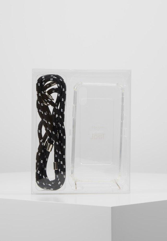 IPHONE 6/6s/7/7s/8 CASE NECKLACE - Phone case - black/white