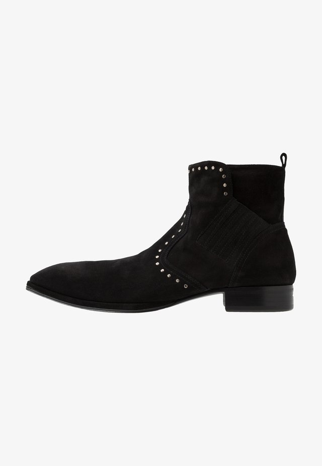 Cowboy/biker ankle boot - nefer nero