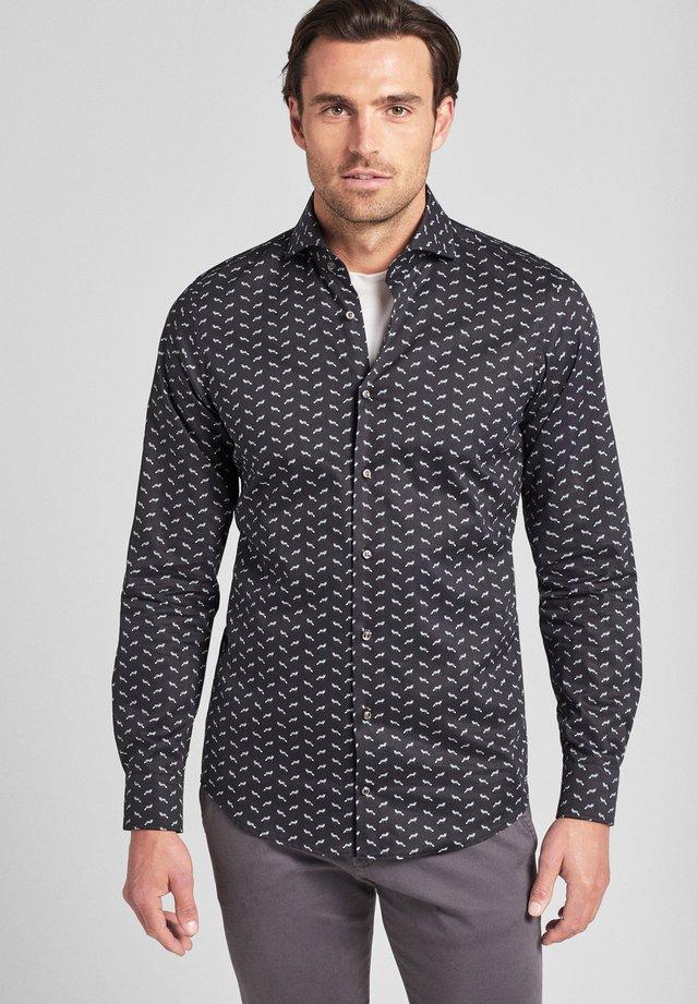 PAJOS - Shirt - schwarz gemustert