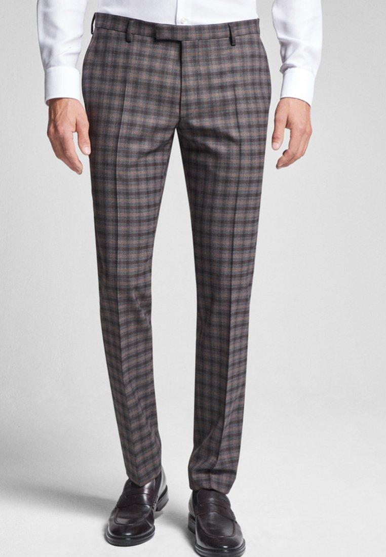 JOOP! - BLAYR - Suit trousers - brown / grey checkered