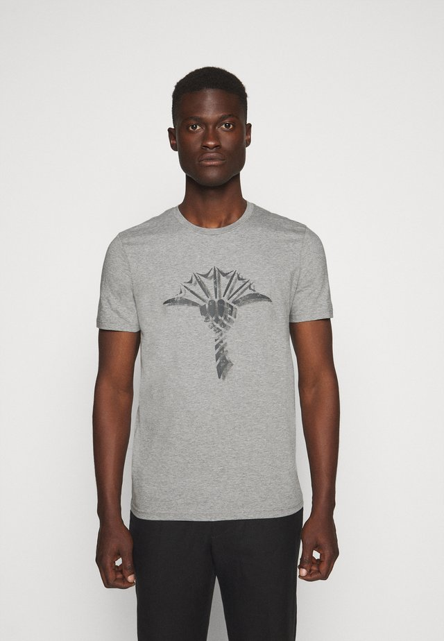 ALERIO - T-shirt z nadrukiem - grey