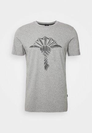 ALERIO - Print T-shirt - grey