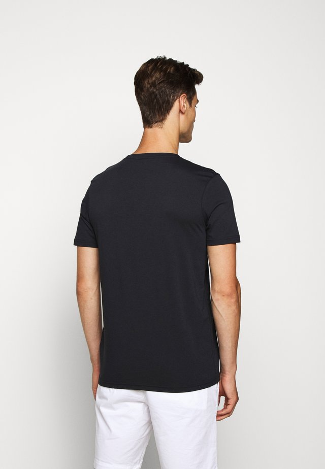 ALERIO - Print T-shirt - dark blue