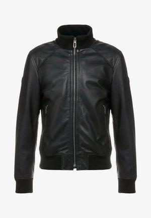 WAYNE - Kožená bunda - black