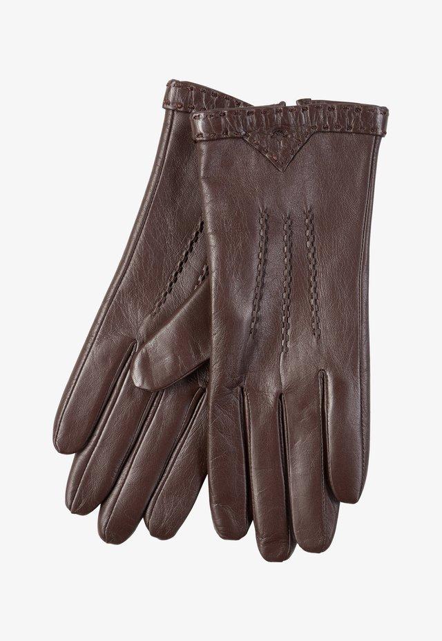 Fingerhandschuh - dunkelbraun