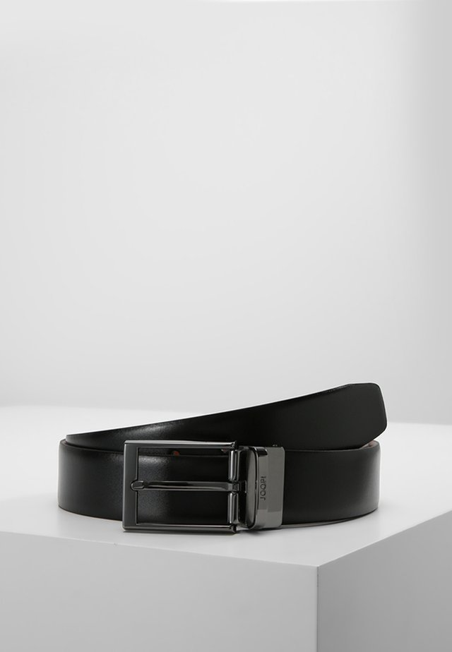 BELT - Formální pásek - black/cognac