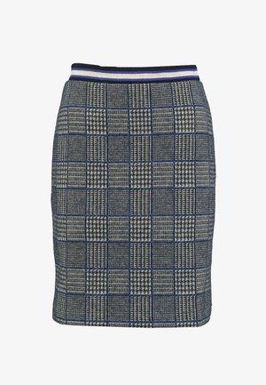 GRETA SKIRT - Mini skirt - check navy