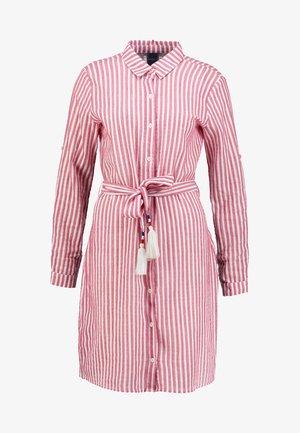 CHRISTAAN DRESS - Shirt dress - stripe red