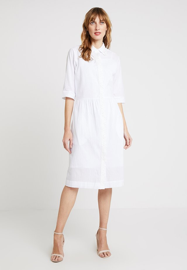CORNE DRESS - Shirt dress - white